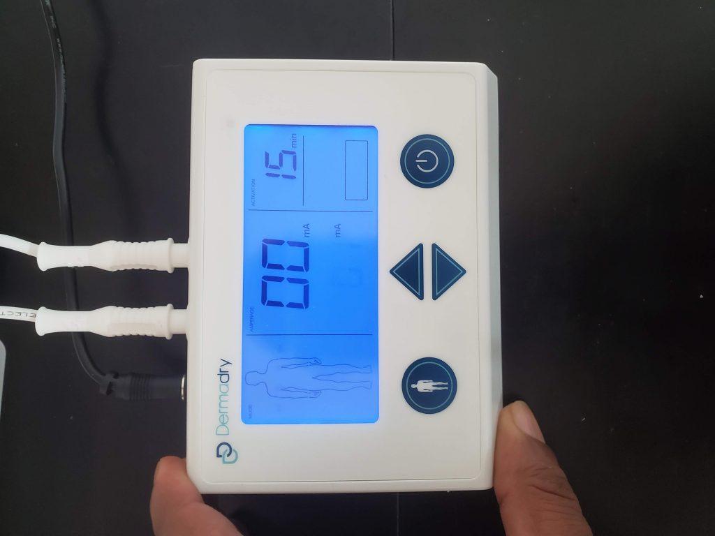 Dermadry iontophoresis machine controller