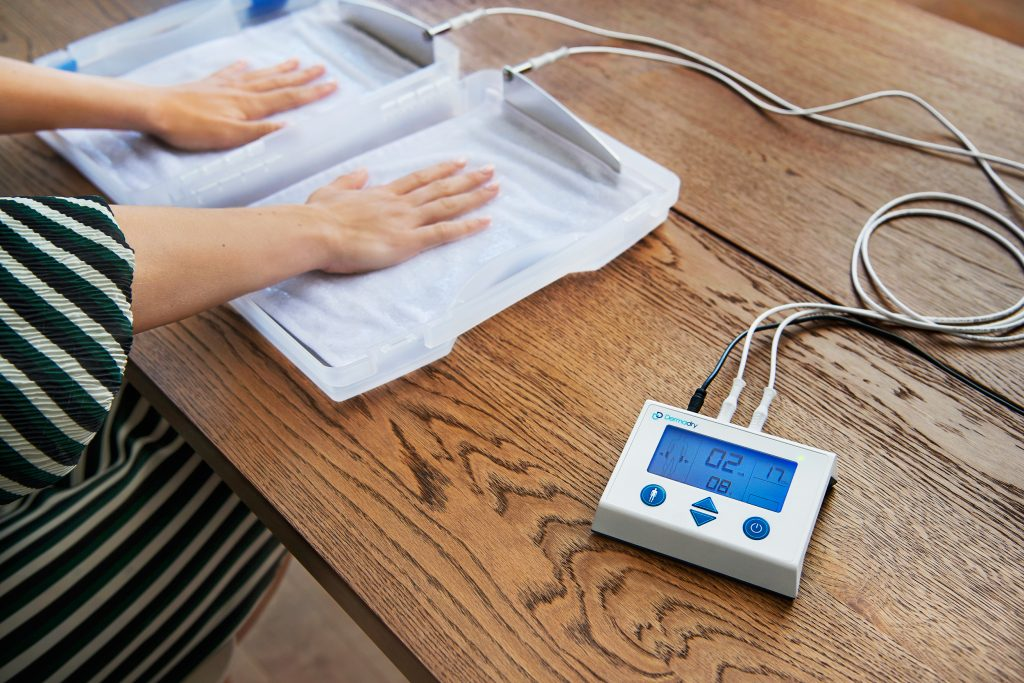 Dermadry Iontophoresis  machine hands