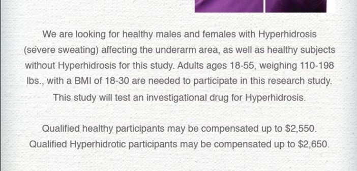 Hyperhidrosis Clinical Research