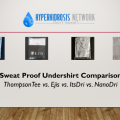 Sweatproof Undershirt Comparison - ThompsonTee vs. ItsDri vs. Ejis vs. NanoDri