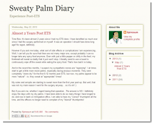 Sweaty Palms Diary